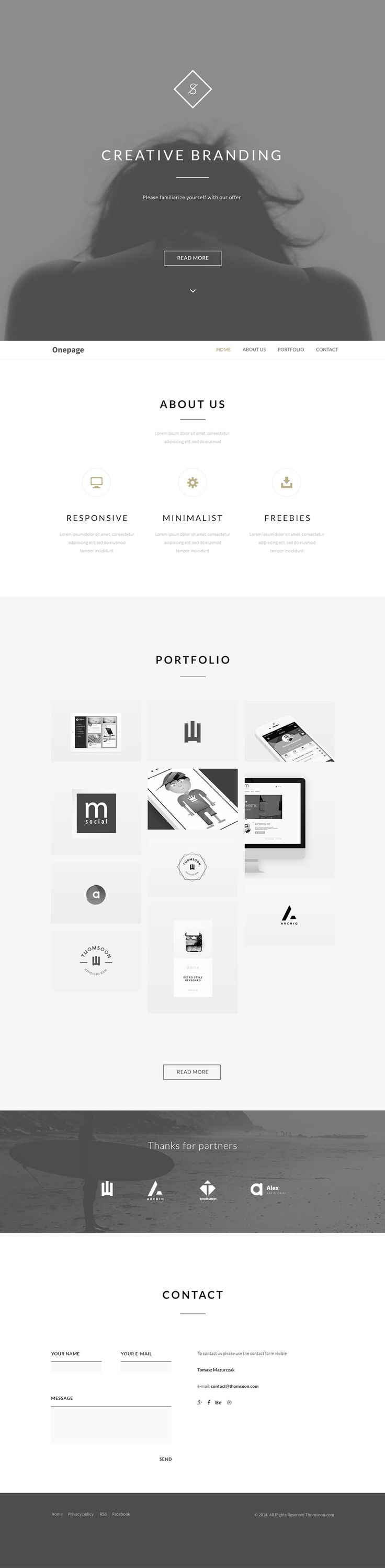 Behance One Page Portfolio