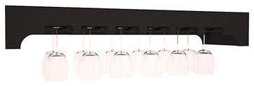 Stemware Glass Rack w/ Arched Panels - contemporary - wine racks - Wine Racks America