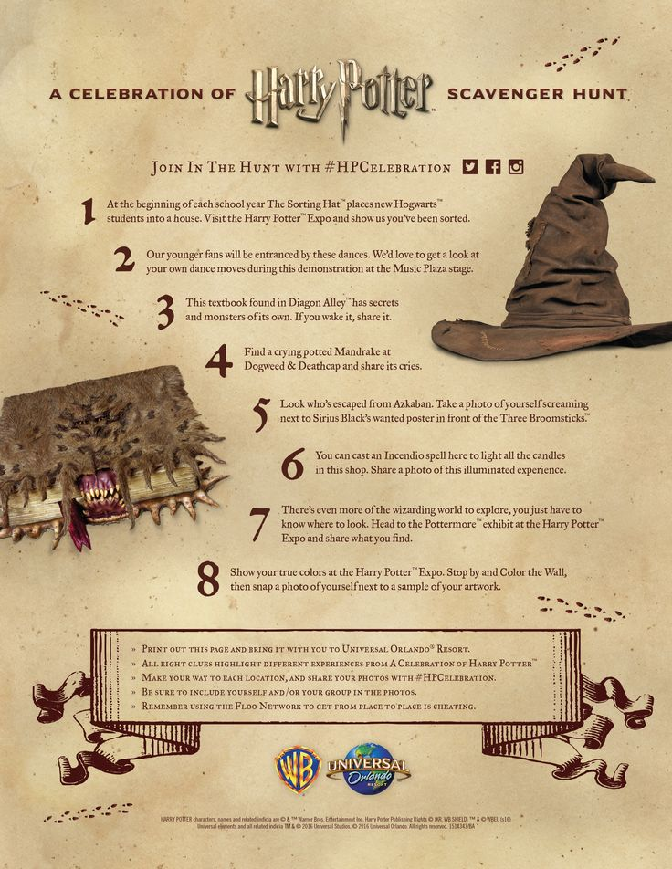 67 best hen do images on pinterest harry potter birthday downloadable scavenger hunt clues for the 2016 celebration of harry potter at universal orlando solutioingenieria Choice Image