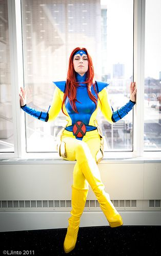 Jean Grey cosplay  Courtney might cosplay as Jean Grey for Mega Con while I cosplay as Storm. That would rock!