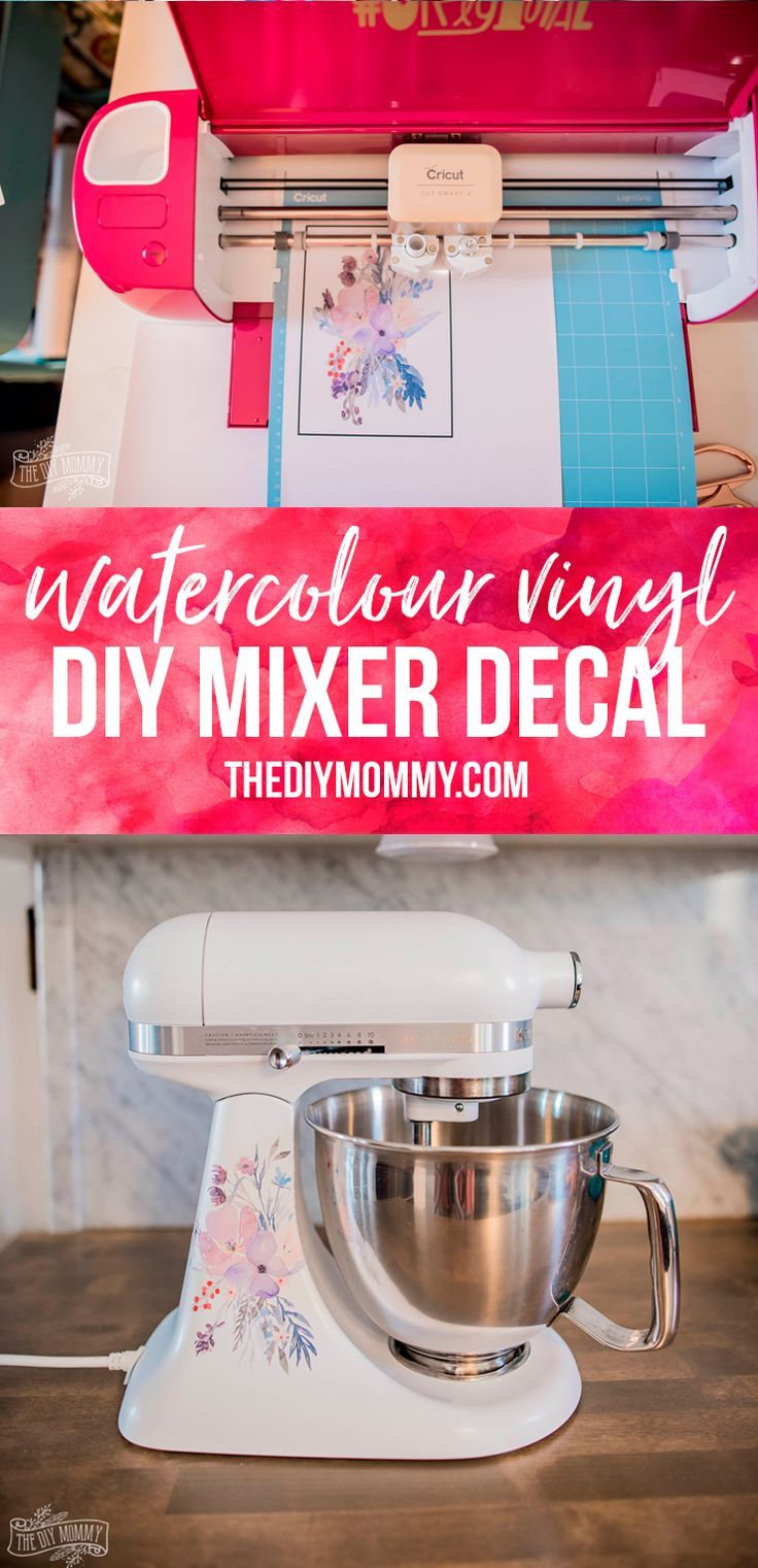 DIY Watercolor Mixer Decal (& the Cricut Explore Air 2
