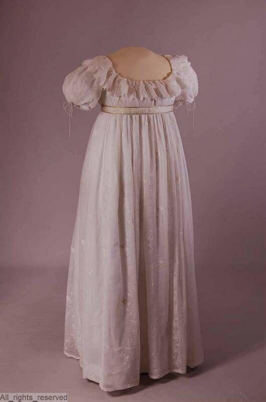 White gown 1800-1820. Europeana fashion. University of Antwerp