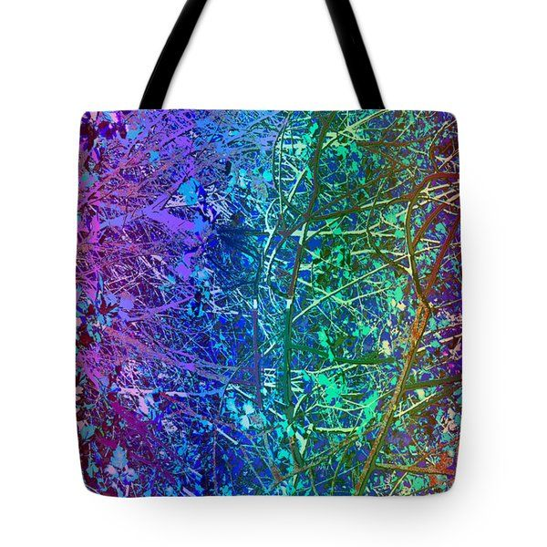 City Roads map  Night Vision Neon Colors  digital graphic conversion enhancements magical signature  Tote Bag by NAVIN JOSHI