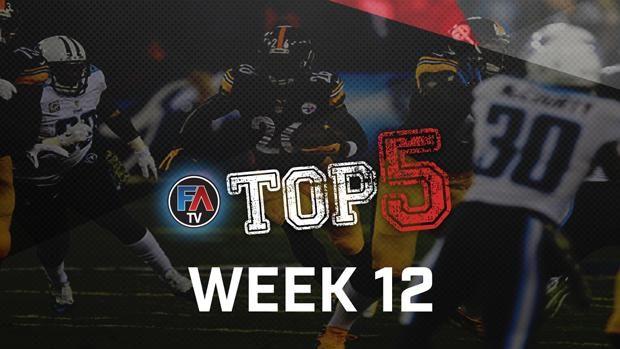 Video: Top 5 - Week 12 Player Rankings - Fantasy Alarm TV