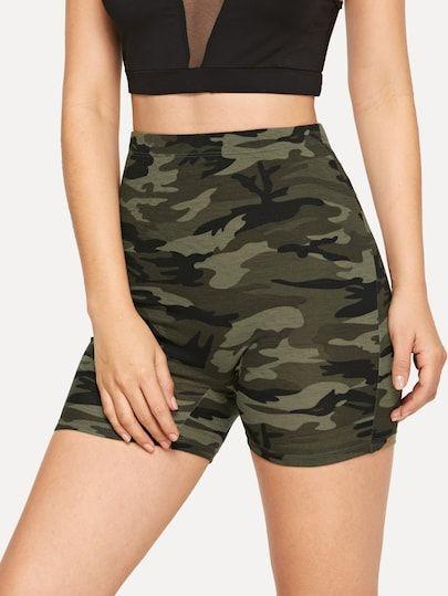SHEIN Camouflage Print Cycling Shorts US$5.00    – leggings
