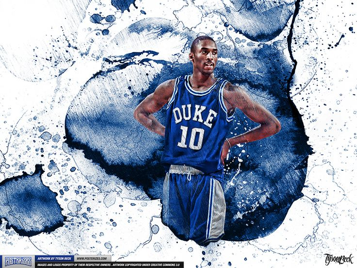 Kobe Bryant Blue Mamba Duke College Wallpaper