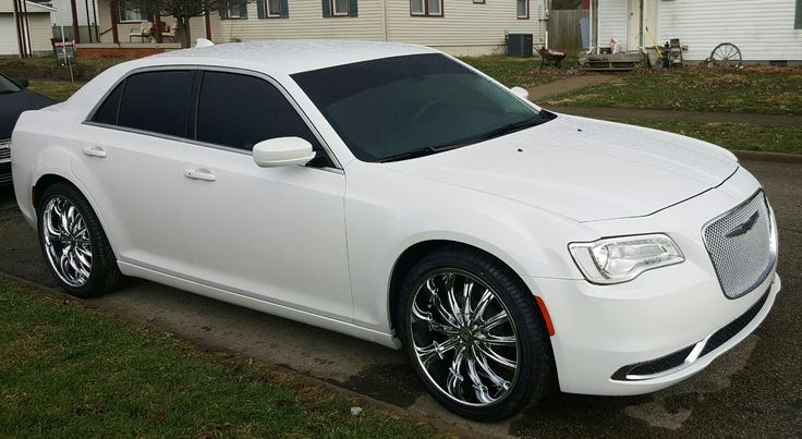 My Baby Got New Shoes!! 2016 Chrysler 300 Bright White on Borghini B15  22s wrapped in Lexani LX-30