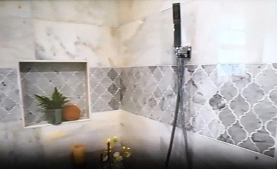 Grey bathroom tile (grey bathroom ideas) #GreyBathroom #Tile #Ideas Tags: Grey bathroom paint grey bathroom cabinets grey bathroom vanity grey bathroom walls grey bathroom decoration