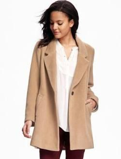 women's fall fashion style and trends - the granny chic camel coat - deal! - shop old navy