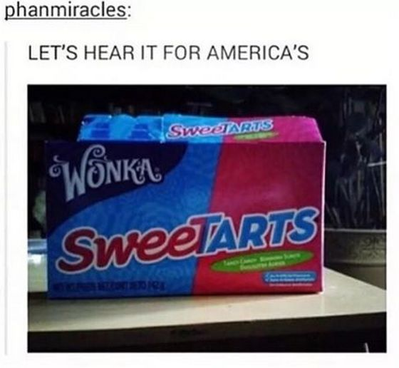 this just makes me giggle Let's hear it for America's sweetarts and I must confess I'm in love with my candy!
