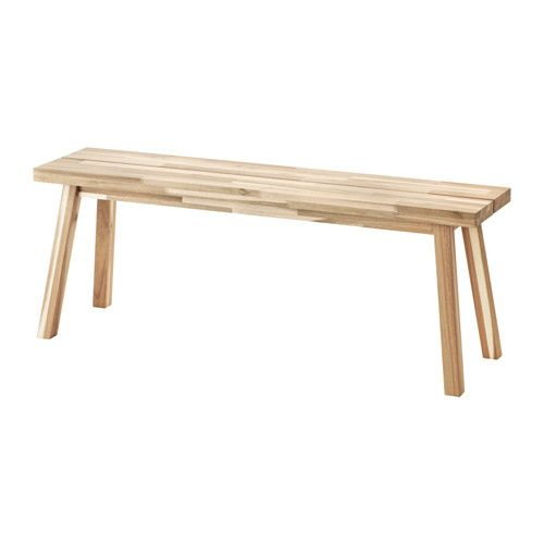 IKEA - SKOGSTA, Bench, Solid wood is a durable natural material which can be sanded and surface treated when required.