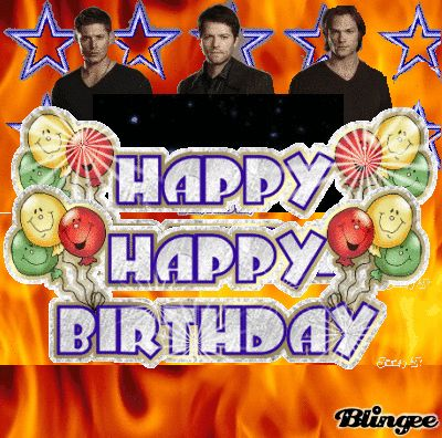 Supernatural birthday card