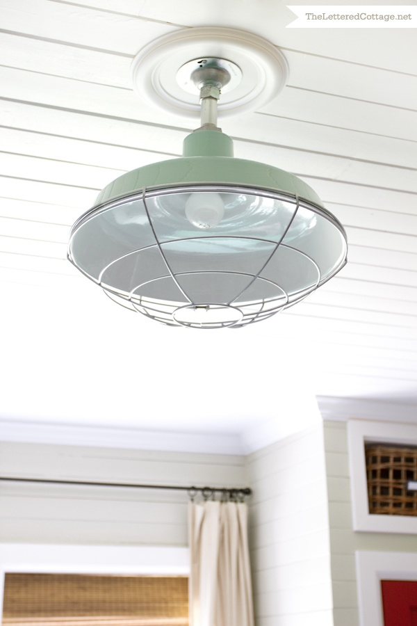 Barn Light Electric Sky Chief Ceiling Light | The Lettered Cottage: Electric Sky, Barns Lights Electric, Lights Fixtures, Ceilings Lights, Chiefs Ceilings, Letters Cottages, House, Sky Chiefs, Front Porches