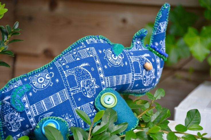 This spectacular crash of rhinos created by 'Why me'  want to support the Burmese Learning Centre in Thailand, so buy a rhino and donate to this charity!
