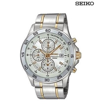 Shiny Seiko Dual Tone Chronograph      http://www.snapdeal.com/product/lifestyle-watches/SeikoDualT-23081?pos=9;88#?utm_source=Fbpost_campaign=Delhi_content=237055_medium=230512_term=Prod