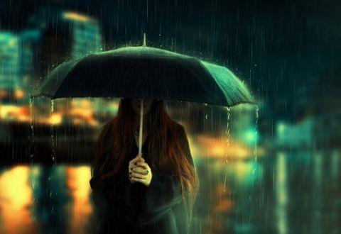 Rain - Rain, River, Umbrella, City, Night, Woman, Girl ...
