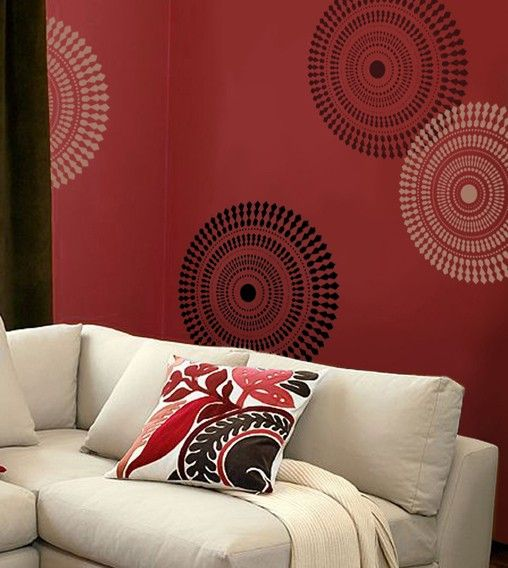 Wall Stencil Funky Wheel MED