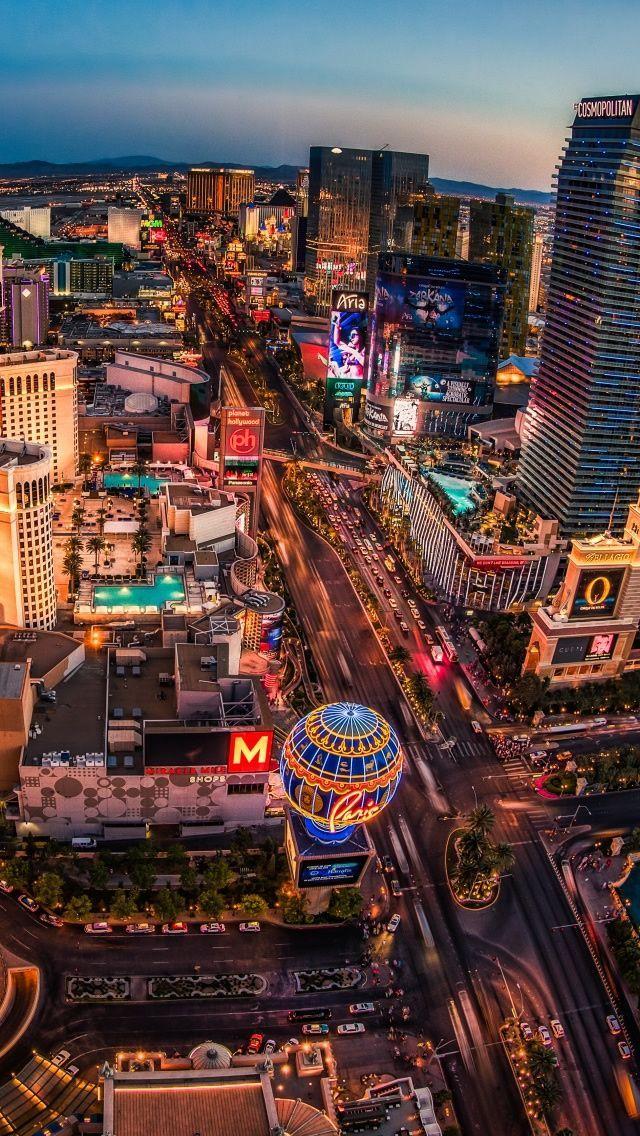 The Strip View In Las Vegas At Night Las Vegas City Vegas Vacation Las Vegas Pictures