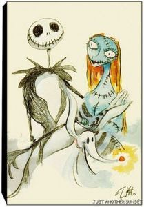 Jack and Sally, Limited Edition Print, Canvas
