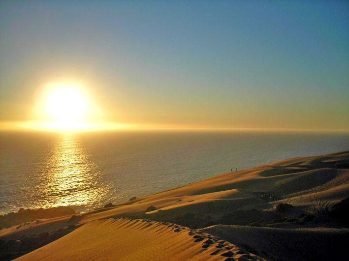 ocaso desde las dunas