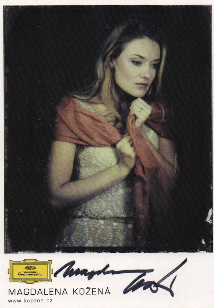 Magdalena Kozena autographed photograph from our collection.