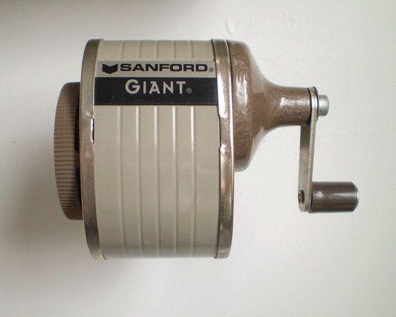 Vintage Sanford Pencil Sharpener  Mountable 3 by smilemercantile