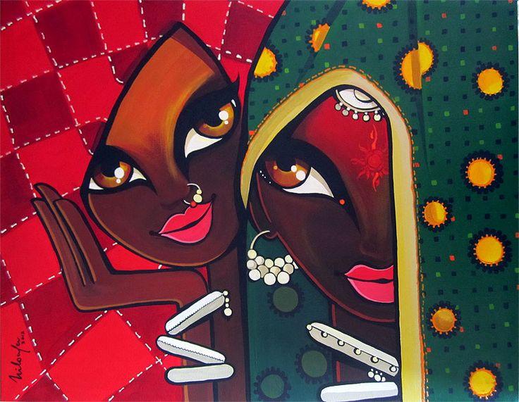 Friendship - Acrylics on Canvas  Niloufer Wadia