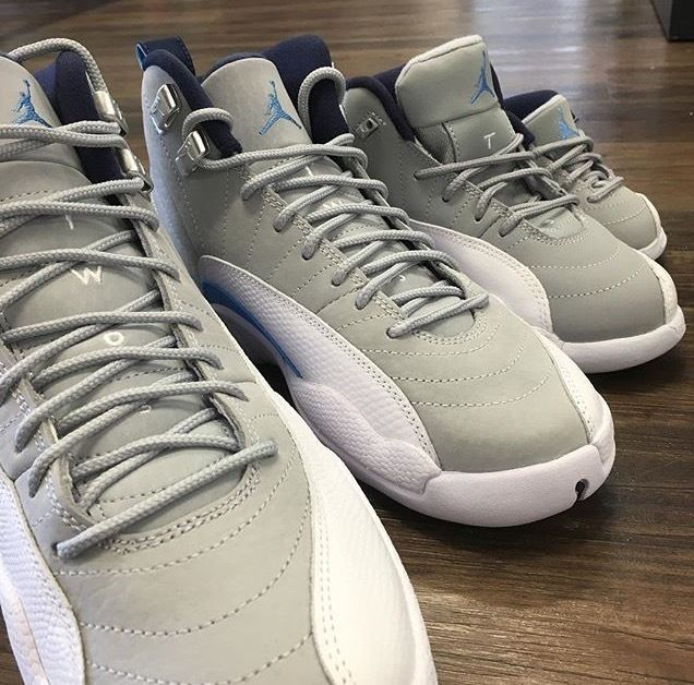 6823162e0fff ... Air Jordan Retro 12s Unc Wolf Grey Infant Toddler Preschool Size 1C-3Y  Nike ...