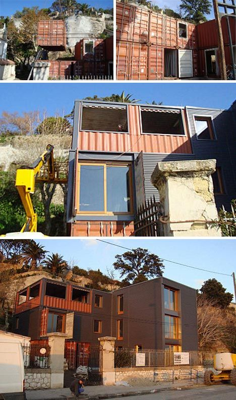 renovated shipping containers | shipping cargo container house Recycled Shipping Containers as ...