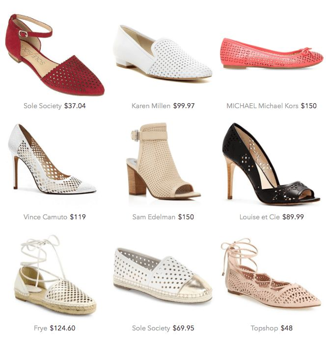 business casual for women summer perforated shoes
