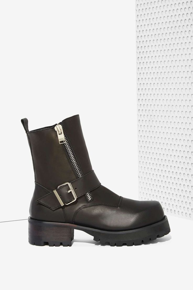 UNIF Cease Leather Boots