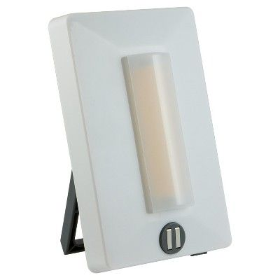 General Electric - Enbrighten Led Battery Operated Touch On/Off Light - White