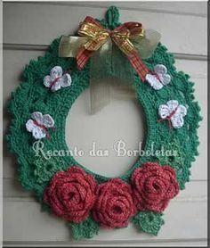 Veja como fazer uma guirlanda de Natal em barbante endurecido passo a passo para decoração de natal, presentear e vender. Passo a passo de natal para as a