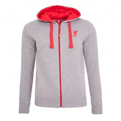 LFC Ladies Grey Basic Zip Through | Liverpool FC Official Store
