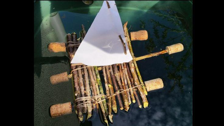 Basteln mit Holz 4: Floß bauen mit Kindern