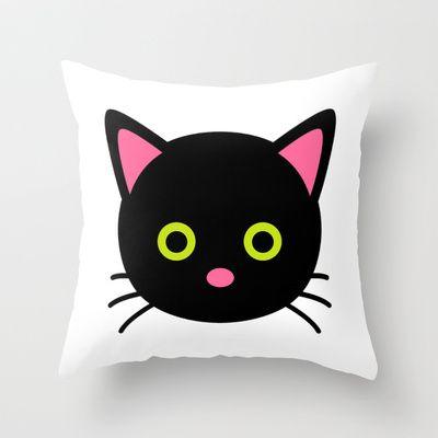Cat Throw Pillow by Namia Design - $20.00
