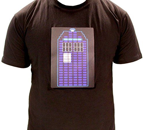 Doctor Who TARDIS Sound Activated LED Light Up Adult T-Shirt @ niftywarehouse.com #NiftyWarehouse #Geek #Fun #Entertainment #Products