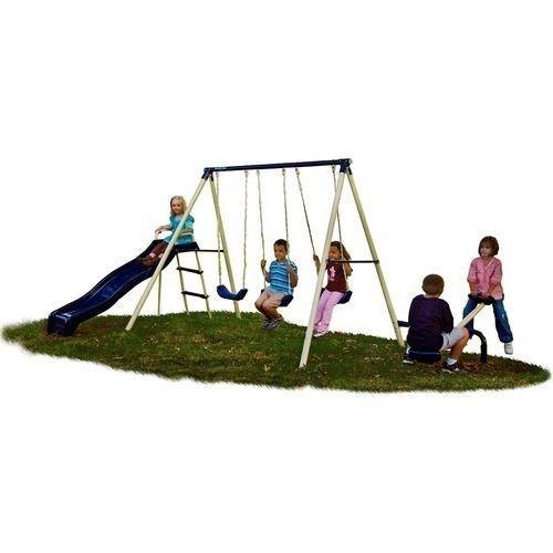 Big Backyard Daycare :  Childern Boys Girls Swing Play Set Outdoor Backyard Patio Grass New