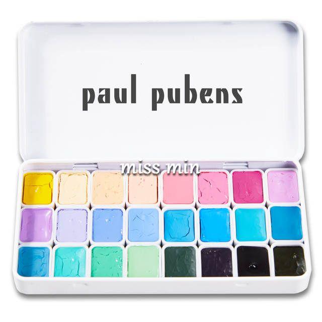 Paul Rubens 12//24//48 Colors Professional Solid Watercolor Paint Set Metal Box