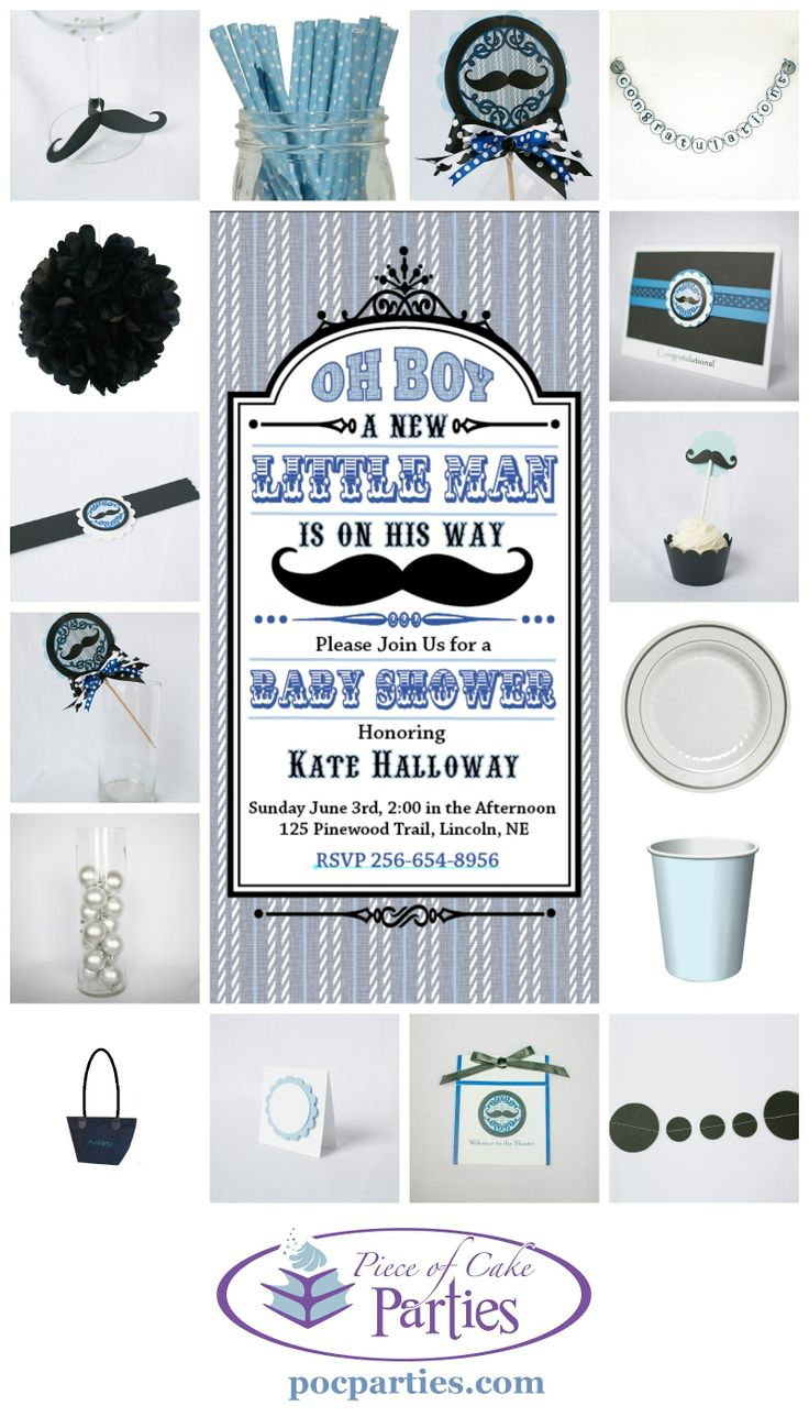 Who doesn't love a mustache bridal or baby shower?  A complete charming party delivered to you.  You just add the cake and the food!