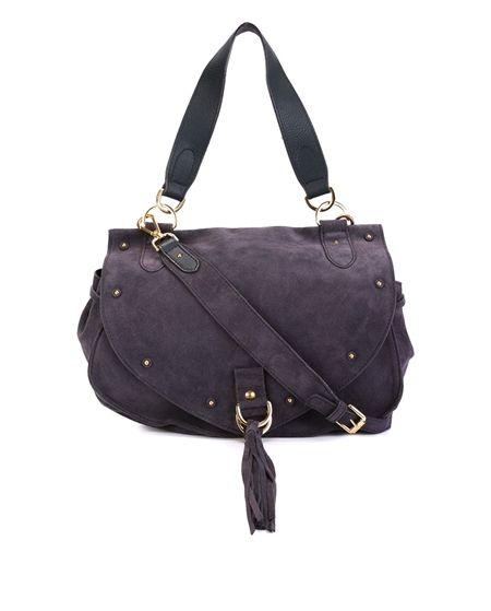 Large Collins Suede Shoulder Bag