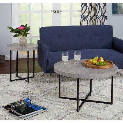 Quan 2 Piece Cofee Table Set