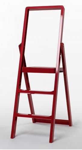 Designed by Karl Malmvall, the Design House Stockholm Step LadderPainted Wood, Step Ladders, Stockholm Step, Karl Malmval, Step Stools, Laundry Rooms, Design House Stockholm, Red Stools, Black