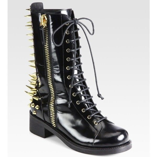 Giuseppe Zanotti Studded Leather Combat BootsLs Boots, Zanotti Studs, Giuseppe Zanotti, Fabulous Footwear, Awesome Shoes, Fall 2013, Studs Leather, Leather Combat, Combat Boots