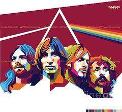 Pink Floyd Art - Pink Floyd 2 by Gilar Artoholic