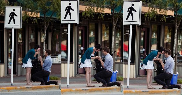 Fun story involving a strategically placed photographer!
