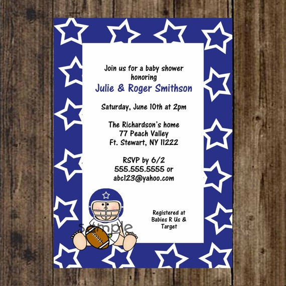 26 best images about Dallas Cowboys Baby Shower – Dallas Cowboys Party Invitations