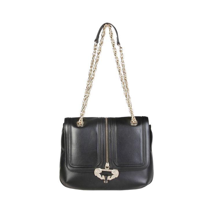 Versace Jeans – E1VPBBZ2_75594   Crossbody eco-leather bag has metallic fastening, lined interior and a dustbag. Inside it, there are1 zipped pocket and 2 inside pockets. It is of size 31*24*9 cm.  https://fashiondose24.com