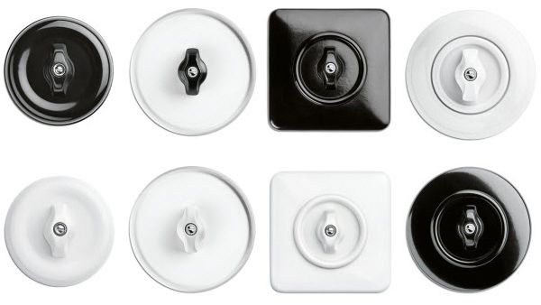 Schaltersysteme aus Porzellan und Bakelit  von THPG