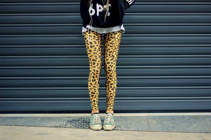 Eleftheria wearing the Leopard PCP leggings #pcpclothing #pcpleggings